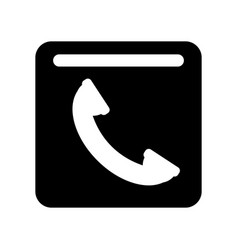 telephone service label vector image