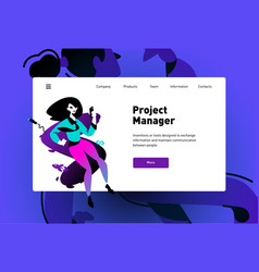 template a web page for landing modern vector image