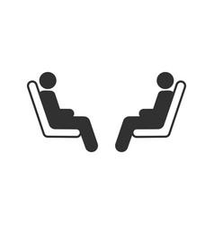 three passenger seating in public transportation vector image