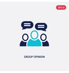 Two color group opinion icon from general-1 vector