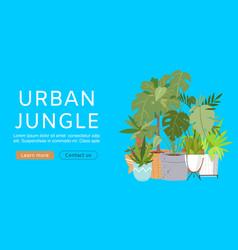 urban jungle web template vector image