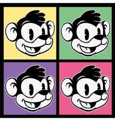 vintage toons images of retro cartoon character vector image