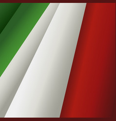 Waving italian flag vector