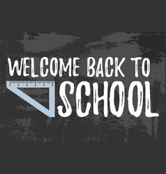 Welcome back to school typographic vector