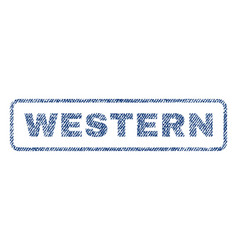 Western textile stamp vector