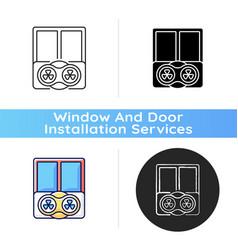 Window fans icon vector