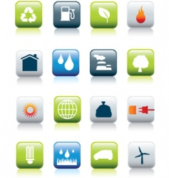 eco icons revived square vector image