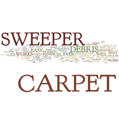 Examples of the modern day carpet sweeper text vector