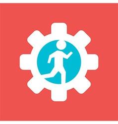 Gear Wheel with Running Man vector image