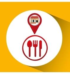 Mobile phone restaurant shop locater vector