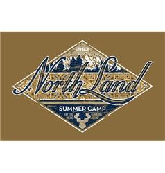 North Land summer camp vector image