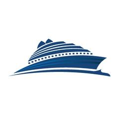 Ship on the sea vector image