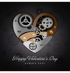 Valentine Heart Mechanisms Background vector image vector image