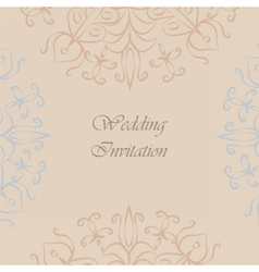 Vintage Invitation with ornaments vector image