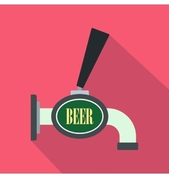 Beer tap icon flat style vector