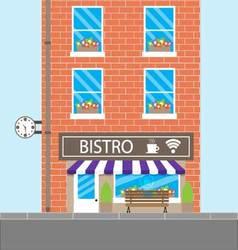 Bistro building cafeteria vector image vector image