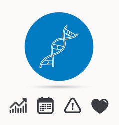 dna icon genetic structure sign vector image