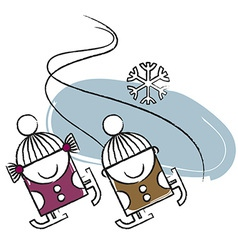 Ice skating vector image vector image