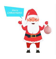 santa holding christmas tree decoration vector image