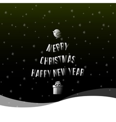 christmas happy new year background vector image