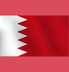 flag of bahrain - vector image vector image