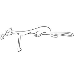 Lying cat vector