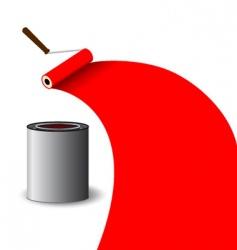 paintbrush illustration vector image vector image