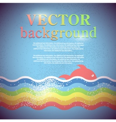 background for design on sea subjects vector image vector image