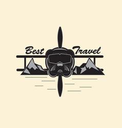 best travel logo vector image vector image