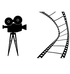 Cinema camera mb vector