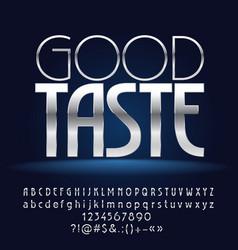 silver white good taste vector image