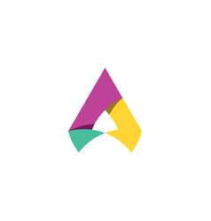A letter abstract geometric logo logotype element vector