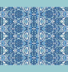abstract ethnic geometric blue striped carpet vector image