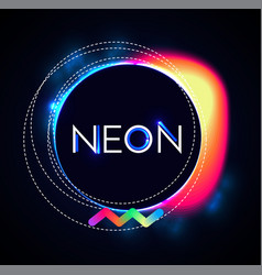 Abstract trendy shining neon banner colorful vector