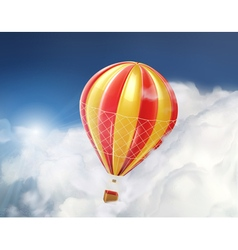 air balloon in clouds vector image