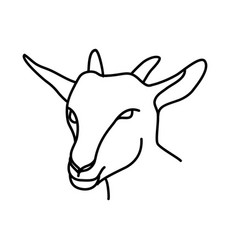 animal goat icon design clip art line icon vector image