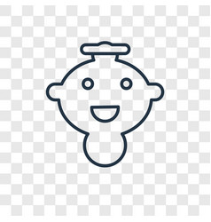 baby boy concept linear icon isolated on vector image