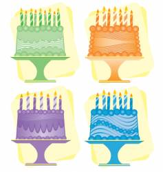 birthday cakes vector image