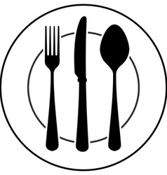 Black Cutlery Symbol vector