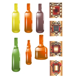 bottle and label vector image