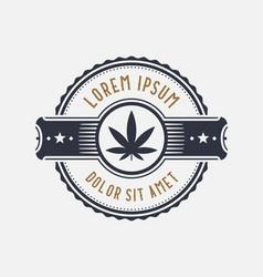 brand identity template design symbol marijuana vector image