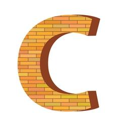 brick letter C vector image