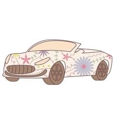 Car cabriolet vintage vector image vector image