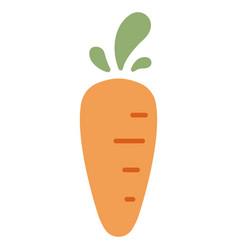 Carrot flat icon vector