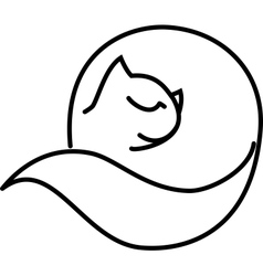 cat roll vector image