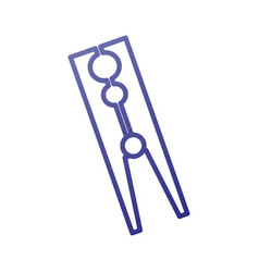 Classic wooden clothes peg laundry icon vector