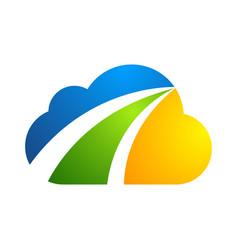 cloud logo design icon element vector image