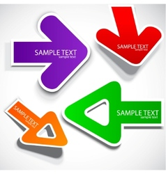 colorful speech arrows vector image