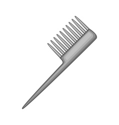 Comb icon black monochrome style vector image