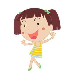 Cute Girl dancing vector image